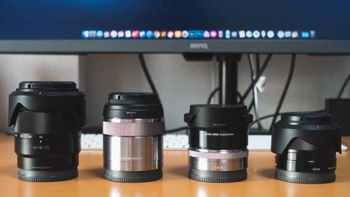 レンズ資産ゼロから α6400 といっしょに買ったレンズ、すぐに買い足したレンズ