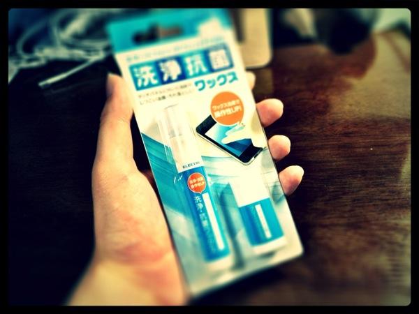 iPhoneのディスプレイを美しく! 防指紋効果もあるクリーナーを買ってきた!