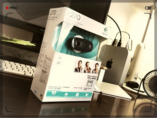 Mac miniでハングアウトしたくてウェブカムc270を購入! HD画質でめっちゃキレイ!