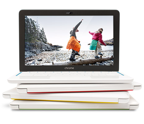 Stacked chromebooks