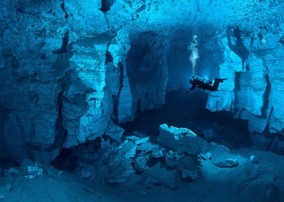The worlds largest underwater cave russia